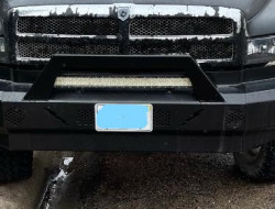 1994-02 (GAS/ DIESEL) 1500/2500/3500 DODGE - SMOOTH PLATE STEEL - PRE-RUNNER SERIES FRONT BUMPER REPLACEMENT