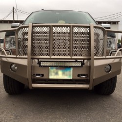 2009-14 FORD F-150 SMOOTH ELITE SERIES WITH A CUSTOM PAINT.  CUSTOMER WANTED LIGHT TABS ON BOTTOM BAR TO ATTACH LIGHT BAR.