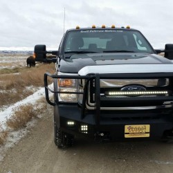 2011+ FORD F-250/350 SMOOTH STORM SERIES WITH ADDED LIGHT PROTECTION AND AFTERMARKET LIGHT HOLES