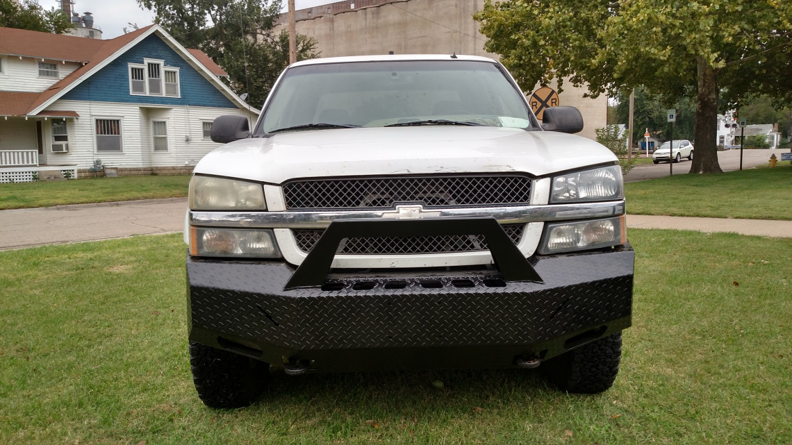 2003-07 (CLASSIC) CHEVY 1500 NON HD - DIAMOND PLATE STEEL -  PRE-RUNNER SERIES FRONT BUMPER REPLACEMENT