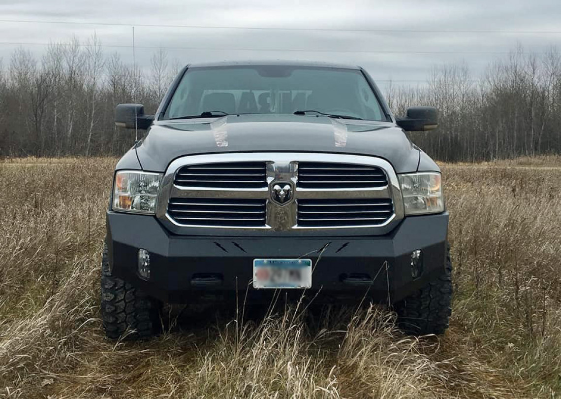 2013-19 (Classic) RAM 1500 smooth front bumper replacement