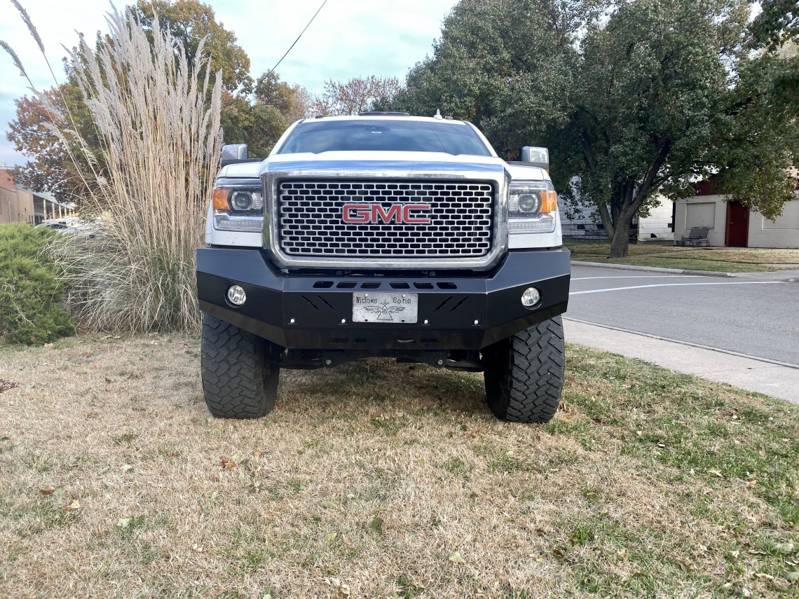 2015 2016 2017 2018 2019 GMC 2500 2500HD 3500 3500HD Premium Front Bumper, front bumper, ranch hand, smooth steel